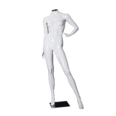 Manequim de fibra feminino Comac na cor branca sem cabeça modelo C.BR