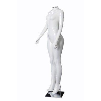 Manequim de fibra feminino Comac na cor branca sem cabeça modelo H.BR