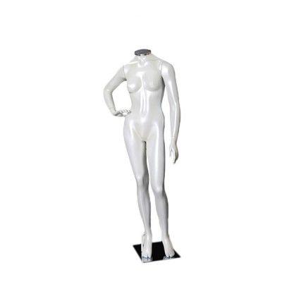 Manequim de fibra feminino Comac na cor branca sem cabeça modelo J.BR