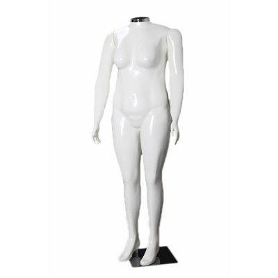 Manequim de fibra feminino Comac na cor branca sem cabeça Plus Size modelo M.BR