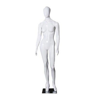 Manequim de fibra feminino Comac na cor branco modelo ET 11A.BR
