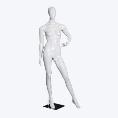 Manequim de fibra feminino Comac na cor branco modelo  ET 11C.BR