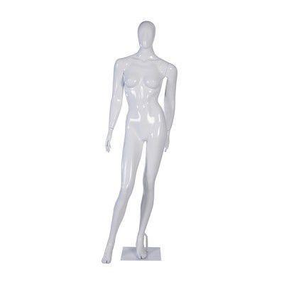 Manequim de fibra feminino Comac na cor branco modelo ET 11D.BR