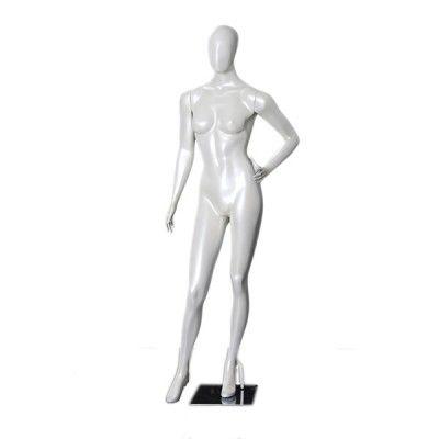 Manequim de fibra feminino Comac na cor branco modelo ET 11E.BR