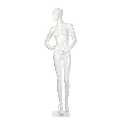 Manequim de fibra feminino Comac na cor branco modelo  ET 11FBF3.BR