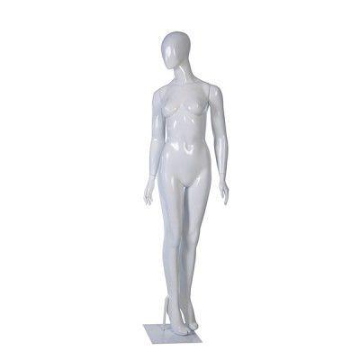 Manequim de fibra feminino Comac na cor branco modelo ET 11L.BR