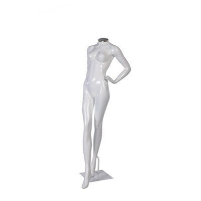 Manequim de fibra feminino Comac na cor branco sem cabeça modelo G.BR