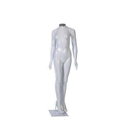 Manequim de fibra feminino Comac na cor branco sem cabeça modelo L.BR