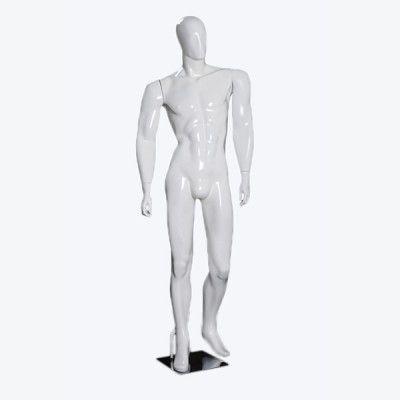 Manequim de fibra masculino Comac na cor branco ET 61R.BR