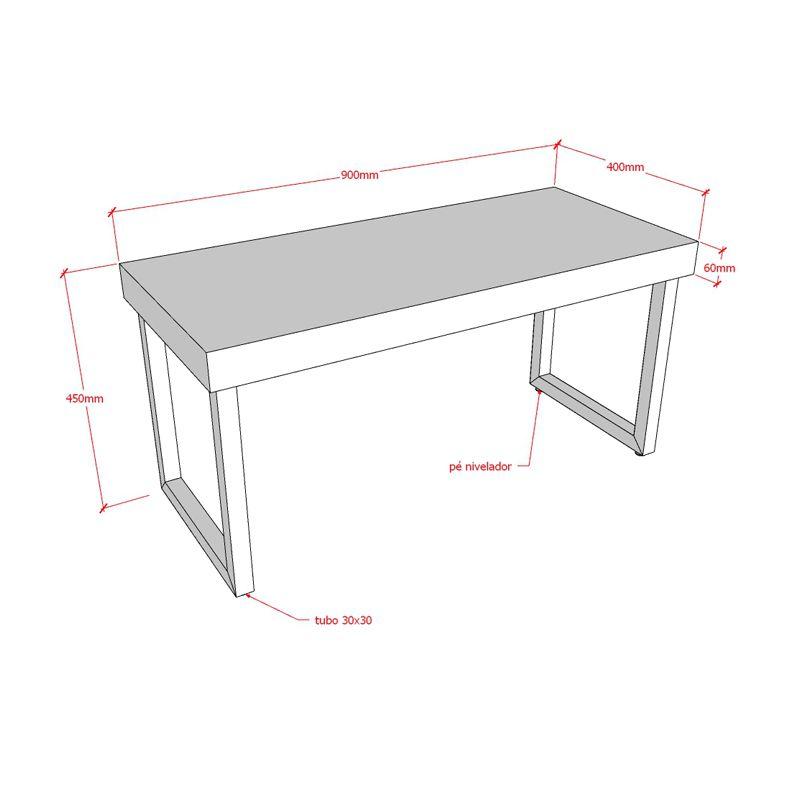 Mesas em MDF modelo kit trio expositora Comac