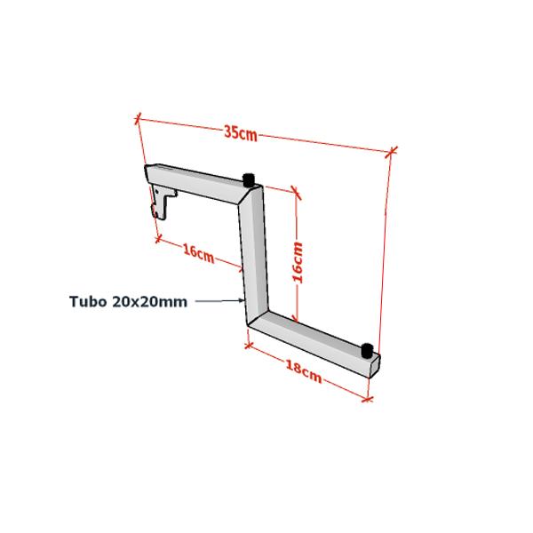 Pendurador Para Cremalheira Com 2 Níveis Comac