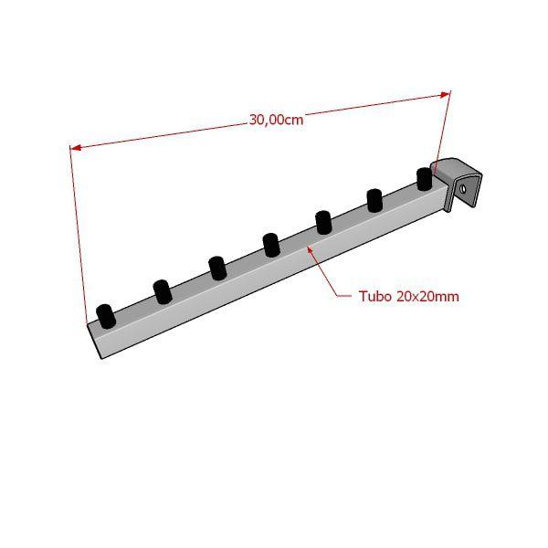 Pendurador RT inclinado quadrado para travessa de cremalheira 30 cm Comac
