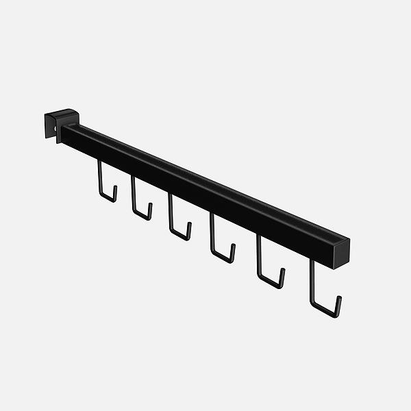 Pendurador RT reto quadrado para Bolsas e Cintos de travessa de cremalheira 39 cm Comac