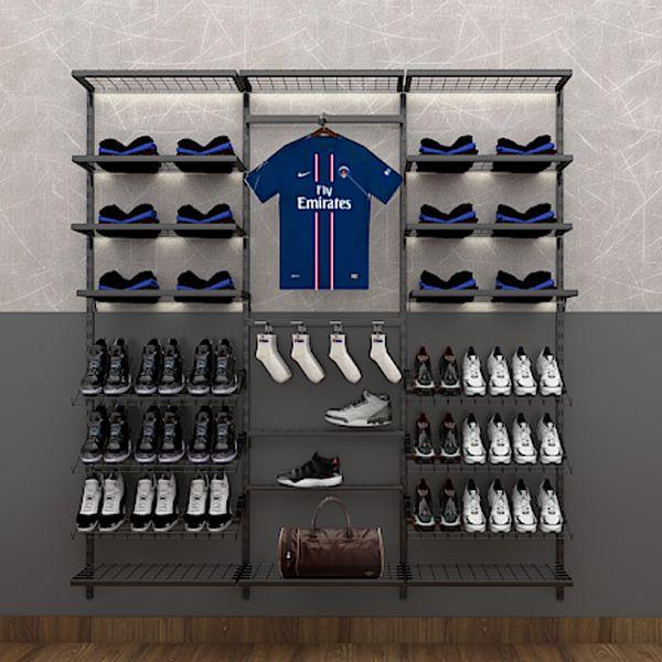 Prateleira Inclinada De Cremalheira Para Sapatos Tela 60X25 cm Comac