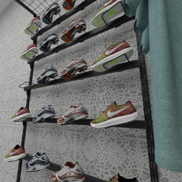 Suporte de calçados RT para travessa de cremalheira inclinado Comac