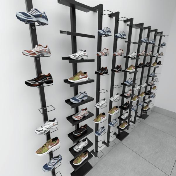 Suporte para calçados chapa reta Linha Screw Comac