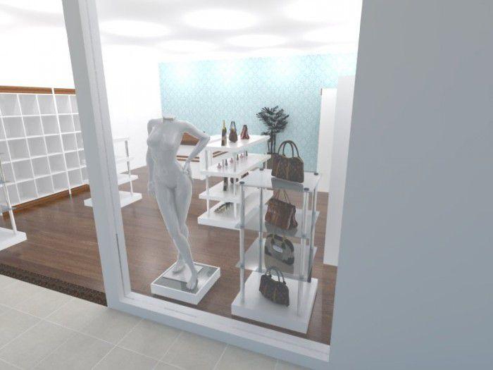 Torre para exposição modelo 4 níveis quadrada com vidro 65x120x65 cm Comac