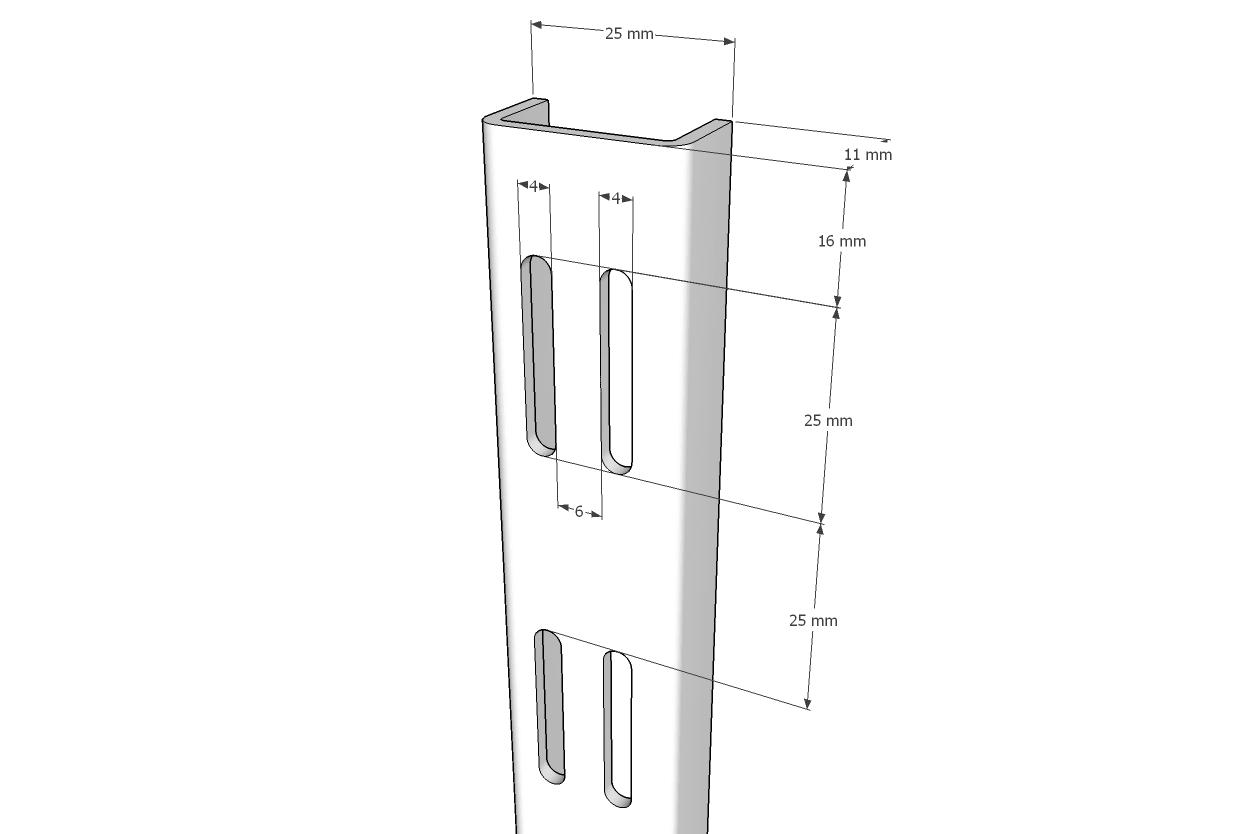Trilho Cremalheira Duplo Comac 200 cm