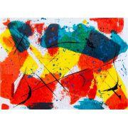 Abstrato Amarelo Vermelho Azul