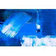 Abstrato Azul Branco