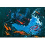 Abstrato Azul e Laranja