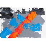 Abstrato Azul Laranja Cinza