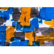 Abstrato Azul Laranja Preto