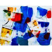 Abstrato Azul Vermelho Amarelo