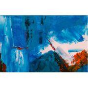 Abstrato Branco Azul Vermelho