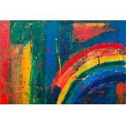 Abstrato Vermelho Amarelo Azul