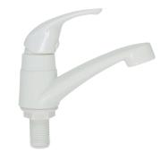 Kit com 10 Torneiras p/ Banheiro Lavabo Branca ABS Monocomando