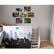 Kit Minecraft 07 quadros 20x30cm cada em Canvas
