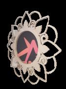 Mandala MDF Espelho Redondo - Esotérico Gratidão