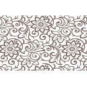 Papel de Parede Flores Marrons