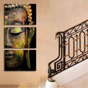 Quadro 120x60cm Buda Colorido Decorativo Interiores Em Canvas Qualidade de Galeria de Arte