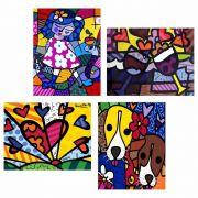 Quadro Romero Britto Decorativo Heart Releitura Rb