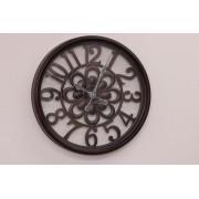 Relógio Parede Pintura estilo madeira Contemporâneo Moderno – Metal e vidro