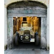 Tela Canvas Carro Vintage Bege