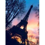 Tela Canvas Pôr do Sol Torre Eiffel