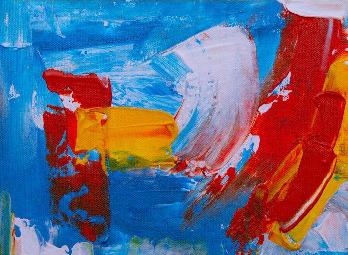 Abstrato Azul Amarelo Vermelho