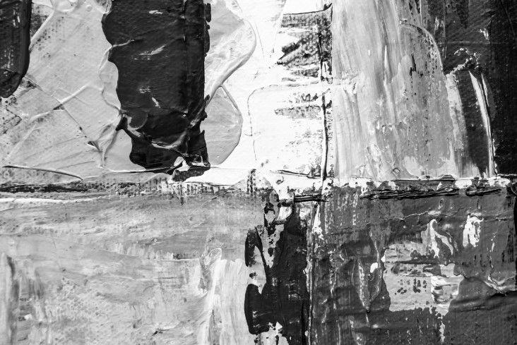 Abstrato Preto Branco Cinza