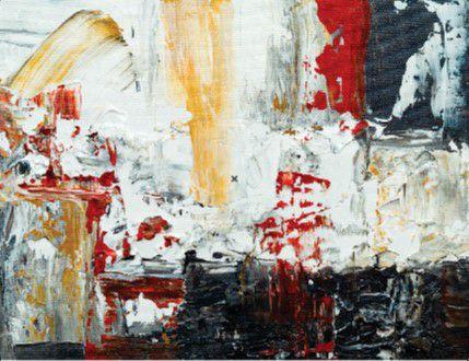 Abstrato Vermelho Amarelo Preto