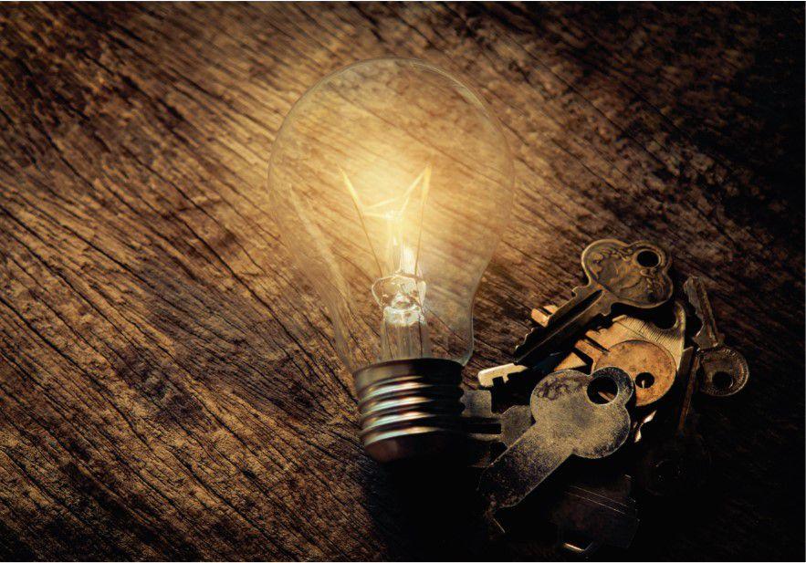 Chave iluminada
