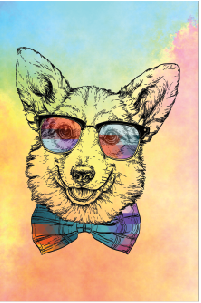 Tela Canvas  Dog Color 2