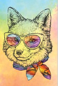 Tela Canvas  Fox Color