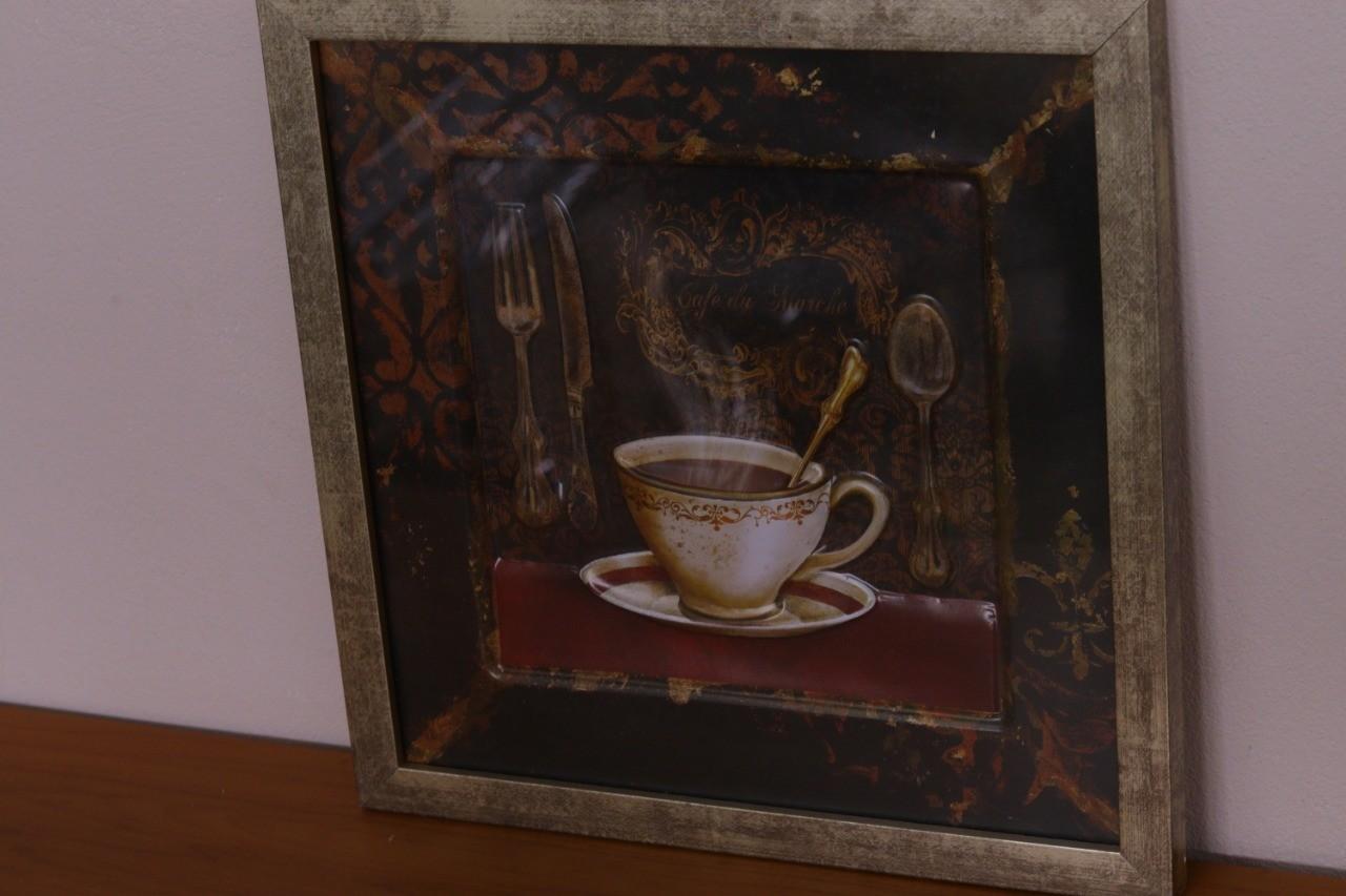 Kit 02 Quadros 3D Cafe