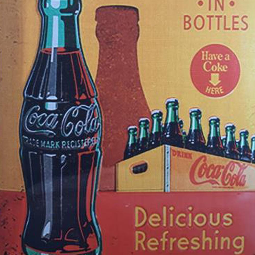 Kit 3 Quadros Decorativos Dek board Vintage Coca Impressão UV