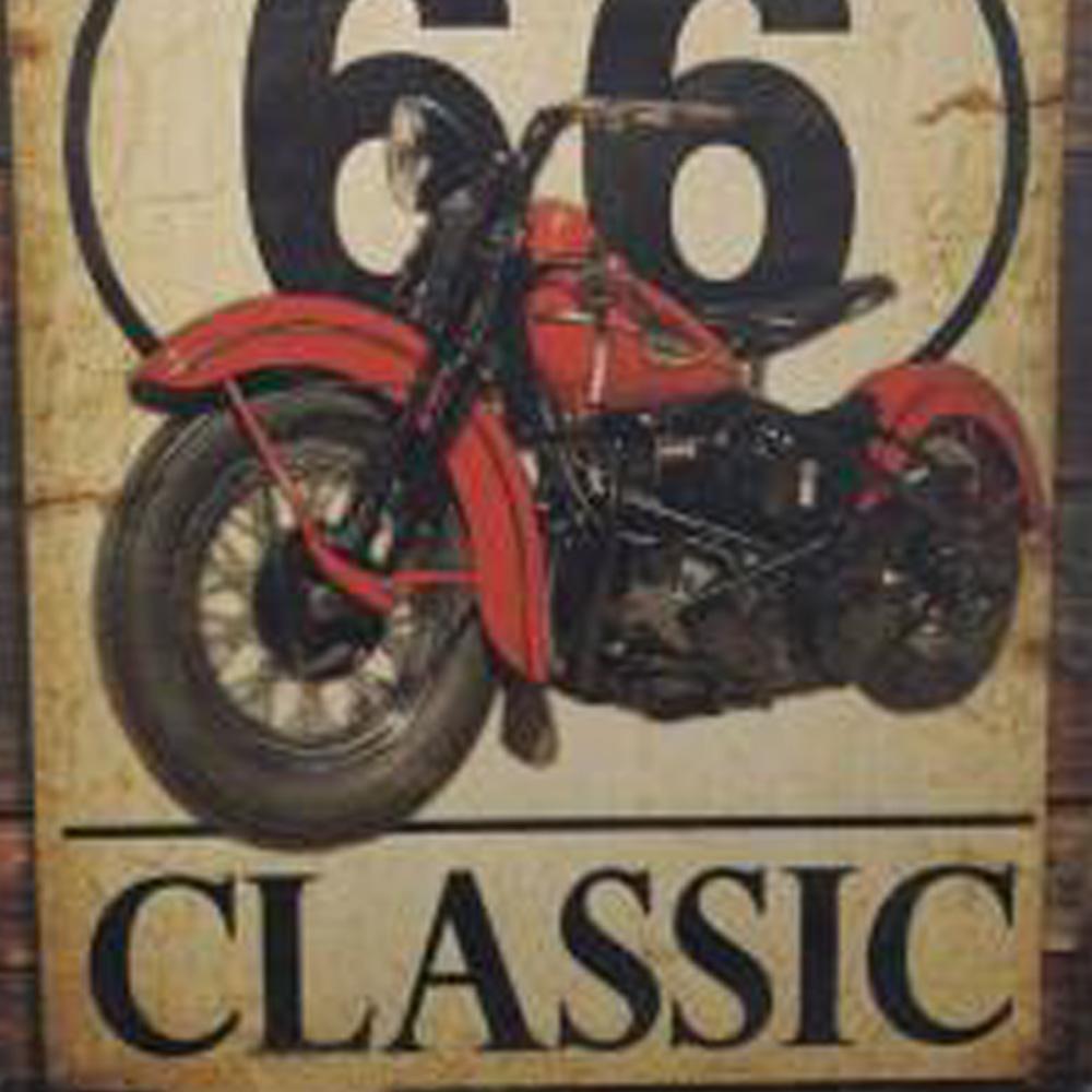 Kit 4 Quadros  Decorativos Dek Board Vintage Rota 66