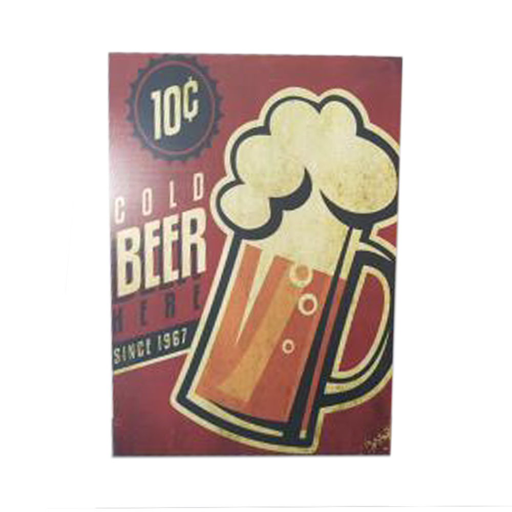 Kit 5 Quadros Decorativos Dek Board Kit Beer Shop