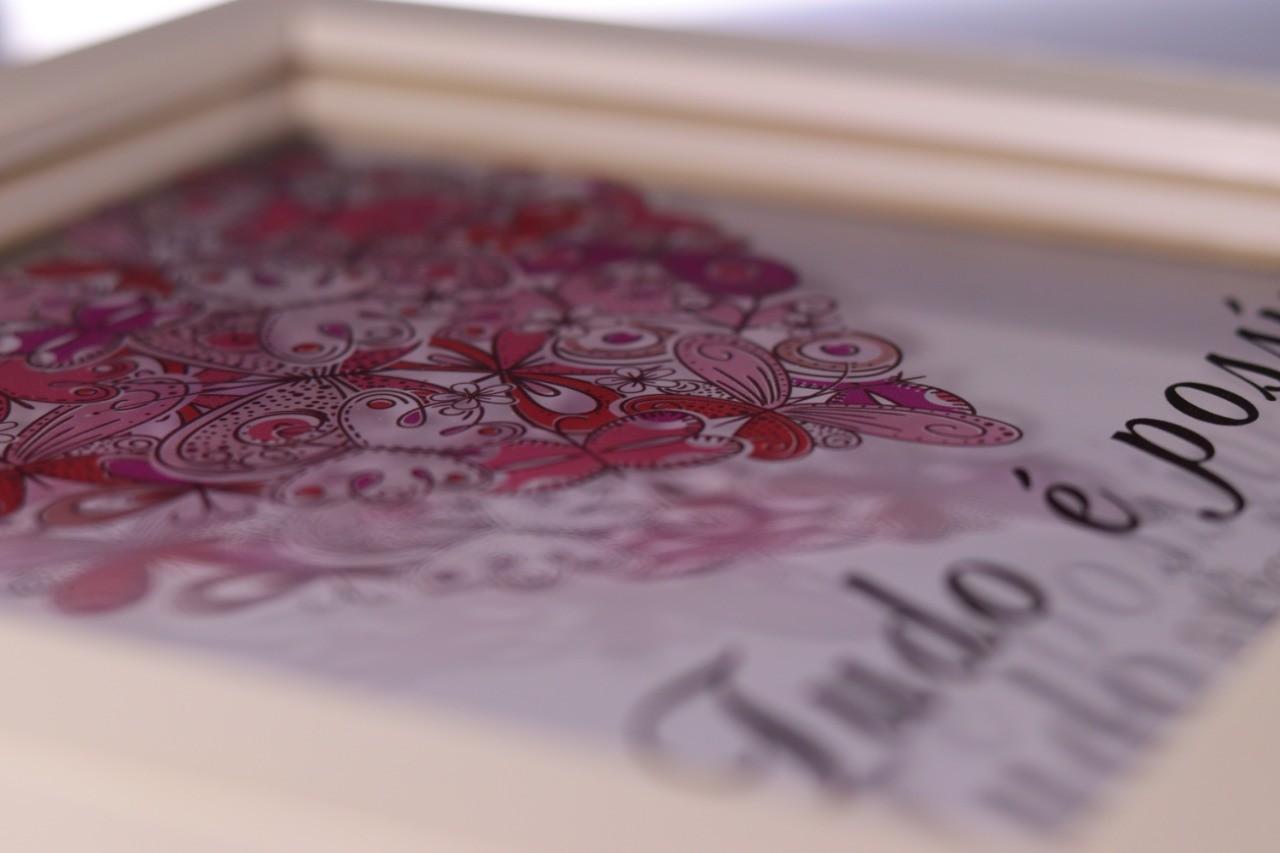 Kit Quadro decorativo Mister e Miss impressão UV em vidro 5mm